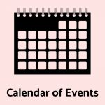 "Icon of calendar and text reading ""Calendar of Events"""